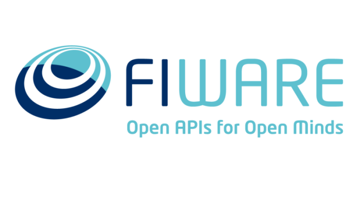 「FIWARE Open Apls for Open Minds」と書かれたファイウェアのロゴ